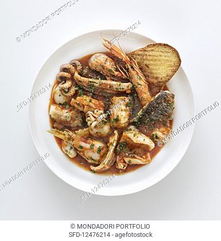 Traditional fish soup (Livorno, Italy)