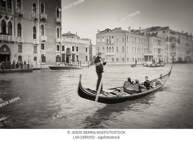 Gondolier in Venice, Gran Canal, Italy