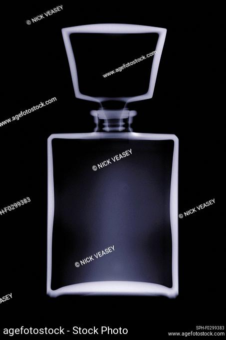 Perfume bottle with a stopper, X-ray