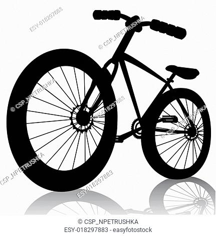 bike silhouette.Vector bicycle isolated on white