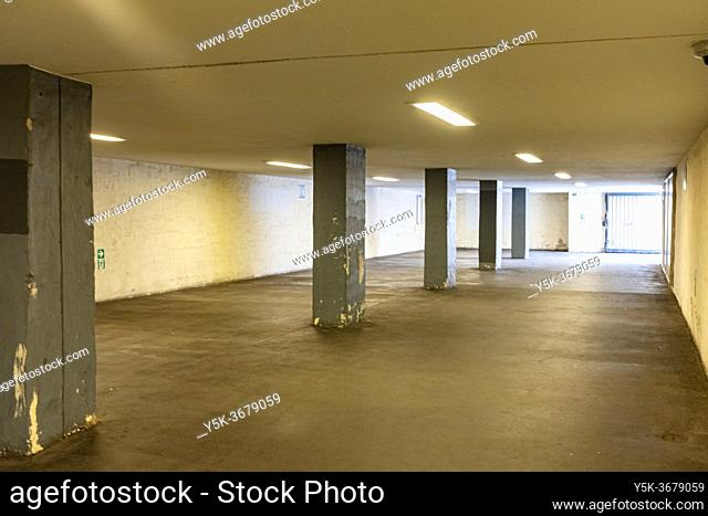 Berlin, Germany. Neglected & Naked U-Bahn Station, spot for the local Drugs Scene, Homeless People and Mental Patients