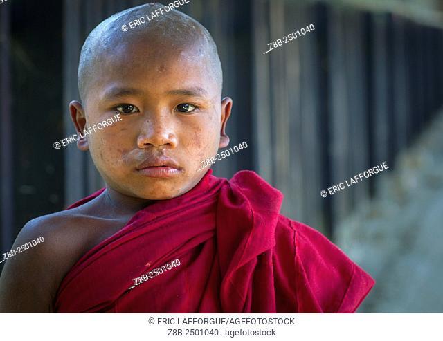 Novice Monk In A Monastery, Mindat, Myanmar