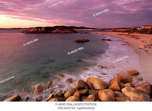 Spain. Galicia. Rias Baixas. Sanxenxo. Lanzada Beach