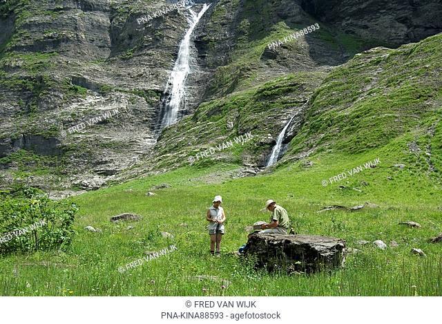 Réserve Naturelle de Sixt-Fer-à-Cheval, Cirque du Fer à Cheval, Sixt-Fer-à-Cheval, Samoëns, Haute-Savoie, Alps, Rhone-Alpes, France, Europe