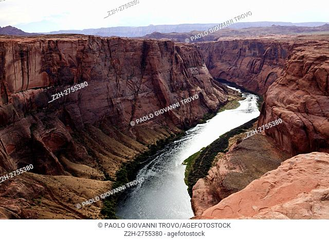 Horseshoe Bend seen from the lookout point, Colorado river, Page, Arizona, USA