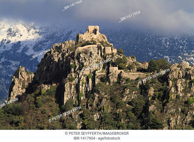 Ruins of Sainte Agnès castle, Sainte Agnès, highest mountain village on the Mediterranean, the Alpes Maritimes, Région Provence-Alpes-Côte d'Azur