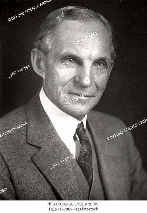 Henry Ford, American engineer and automobile manufacturer, c1910-c1930. In 1903, Henry Ford (1863-1947) founded the Ford Motor Company