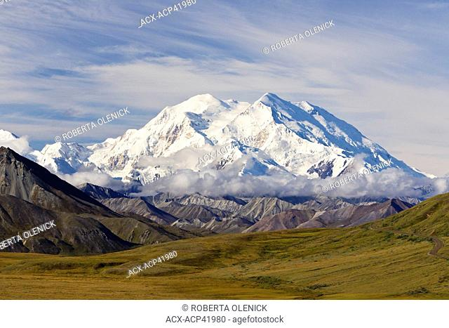 Mount Denali formerly Mount McKinley, from Stony Hill Overlook, Denali National Park, Alaska, United States of America