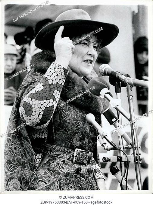 Mar. 03, 1975 - Women's day rally NYC march 8, 1975, Bella Abzug. (Credit Image: © Keystone Press Agency/Keystone USA via ZUMAPRESS.com)