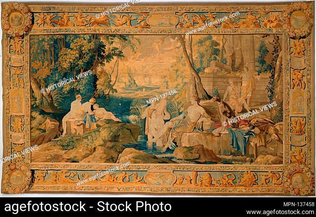 Diana and her Nymphs. Artist: After a painting by Laurent de La Hyre (French, Paris 1606-1656 Paris); Maker: Weaving workshop directed by Hippolyte de Comans...