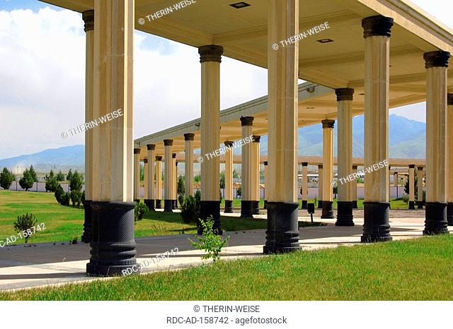 Colums at national Museum Ashgabat Turkmenistan Asgabat collonades