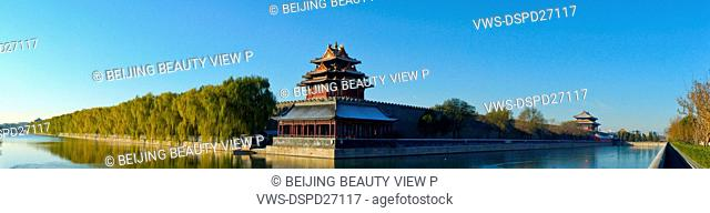 Day view of Forbidden City turret,Beijing,China