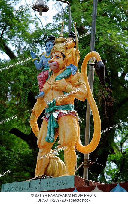 hanuman statue, anjaneya temple, belagavi, karnataka, India, Asia