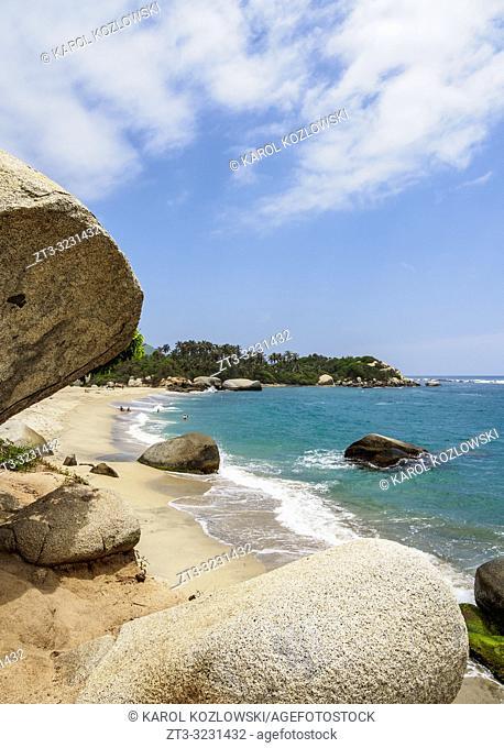 La Piscina Beach, Tayrona National Natural Park, Magdalena Department, Caribbean, Colombia
