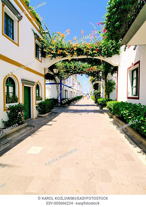 Puerto Mogan, tourist destination on Gran Canaria, Canary Islands, Spain