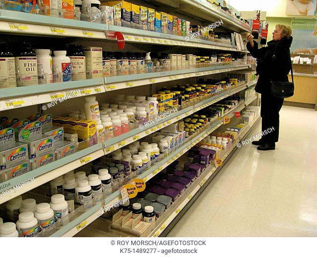 Shopping for vitamins and supplements