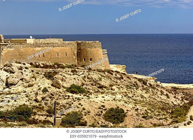 San Felipe, Castle, Cabo de Gata, Natural Parck, Almeria province, Andalucia, Spain