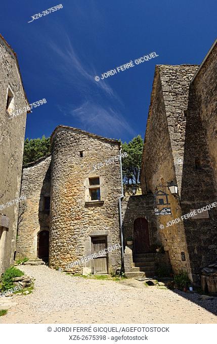 La Couvertoirade, one of The Most Beautiful Villages of France, Les Plus Beaux Villages de France, Aveyron 12, région Languedoc-Roussillon-Midi-Pyrénées, France