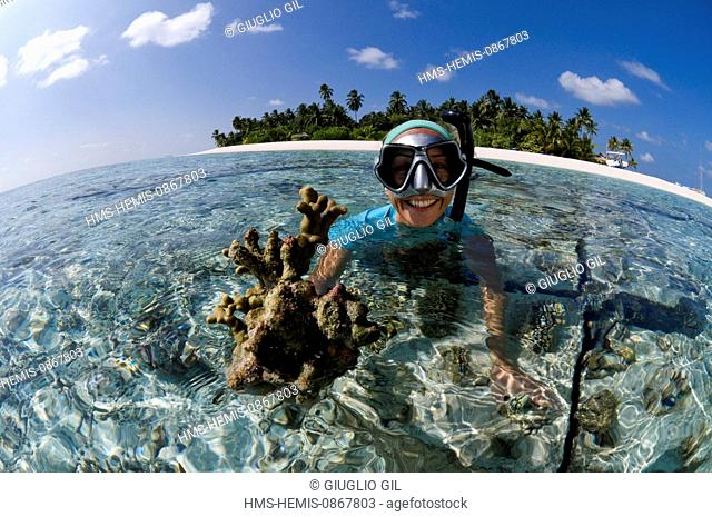 Maldives, Alifu Dhaalu Atoll, Velavaru Island, Angsana Velavaru Resort and Spa of Banyan Tree group hotels, Mirta Moaitis