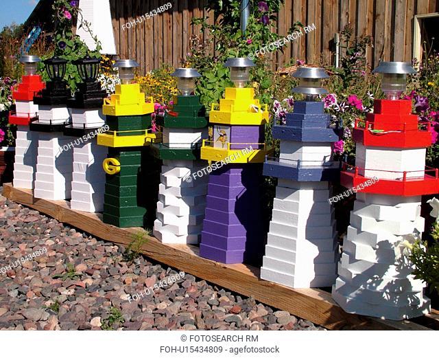 Washburn, WI, Wisconsin, hand-made lighthouses, Ma & Pa's lighthouse shop