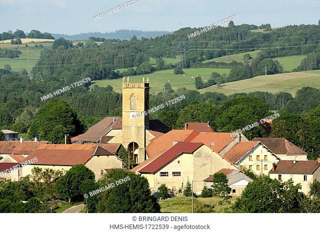 France, Jura, Mieges, village, Saint Germain church