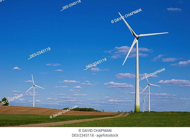 Wind turbines; St. Remi, Quebec, Canada
