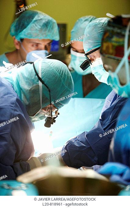 Aortic valve replacement, cardiac surgery, operation room. Hospital Universitario de Gran Canaria Doctor Negrin, Las Palmas de Gran Canaria