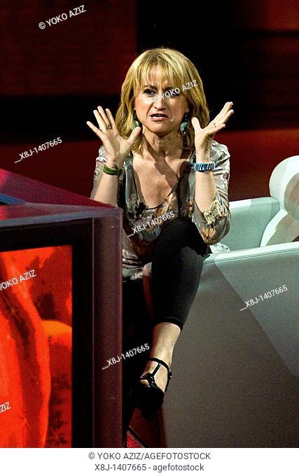 17 04 2011, Milan  'Che tempo che fa' telecast RAI 3  Luciana Littizzetto