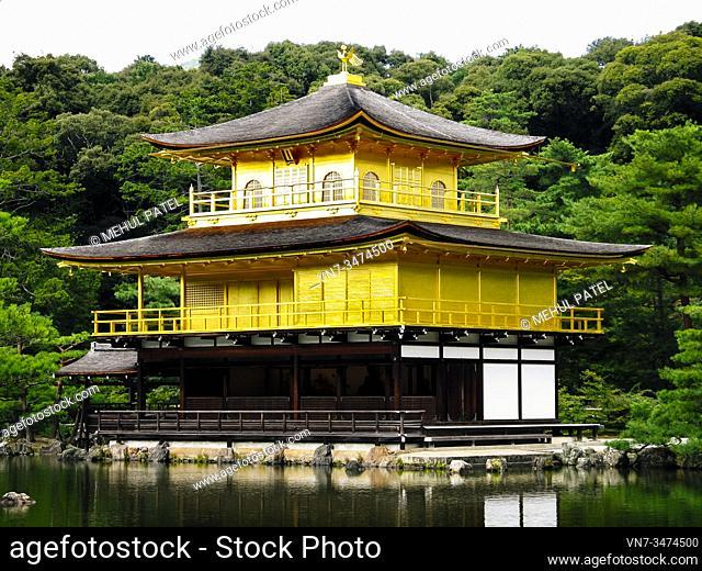 Kinkakuji (Golden Pavilion), Zen temple in Kyoto, Japan, Asia