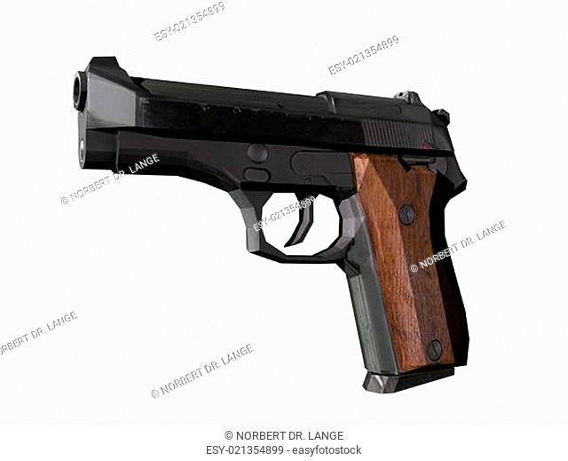 Pistole mit Holgriff freigestellt