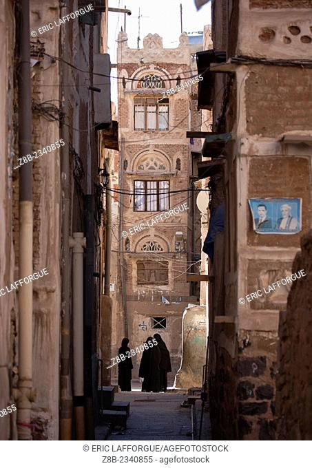 Narrow Street In Sanaa Old Town, Yemen