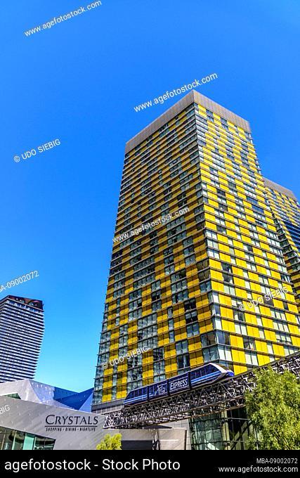 USA, Nevada, Clark County, Las Vegas, Las Vegas Boulevard, The Strip, CityCenter, Veer Towers