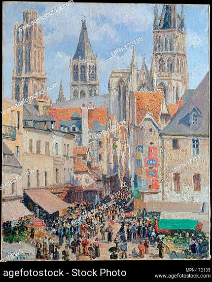 Rue de l'Épicerie, Rouen (Effect of Sunlight). Artist: Camille Pissarro (French, Charlotte Amalie, Saint Thomas 1830-1903 Paris); Date: 1898; Medium: Oil on...