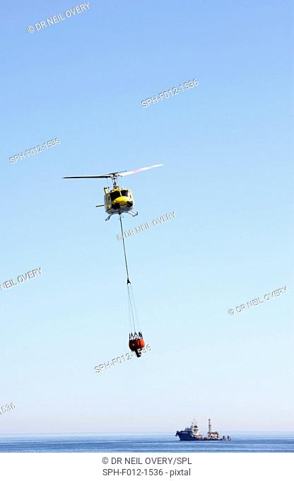 Emergency fire fighting helicopter