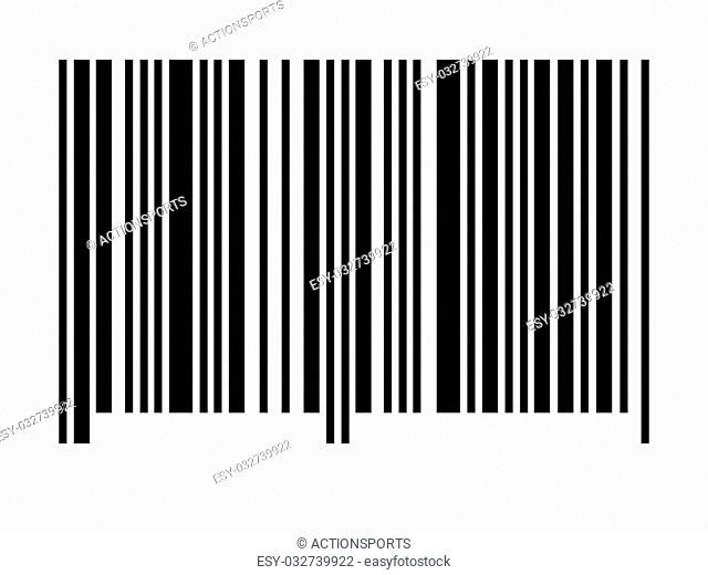 An empty barcode against a white background