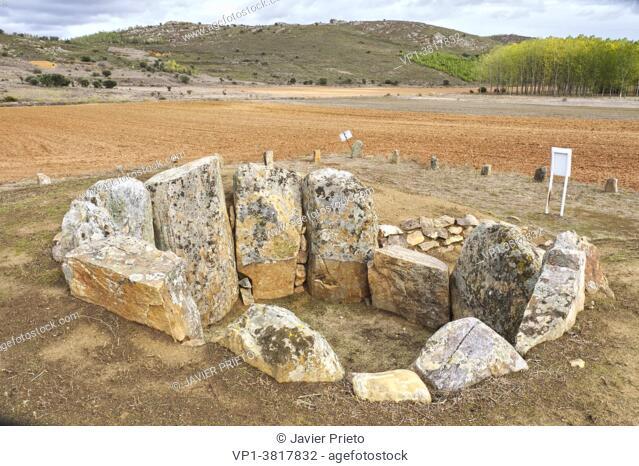 Dolmen of San Adrián. Granucillo de Vidriales. Benavente and the Valles region. Zamora. Castile and Leon. Spain