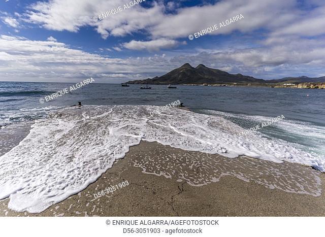 Isleta del Moro, Cabo de Gata, Almeria Province, Andalusia, Spain
