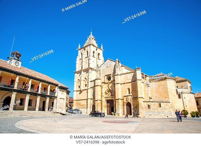 La Magdalena church and town hall. Main Square, Torrelaguna, Madrid province, Spain