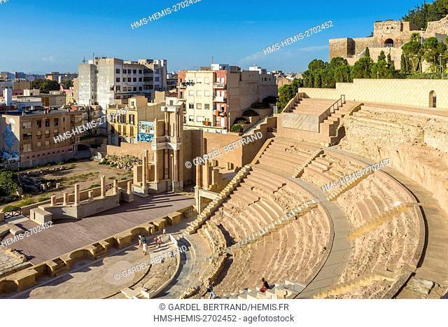 Spain, Murcia Community, Cartagena, Roman theater