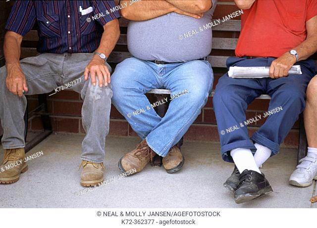 Men at flea market