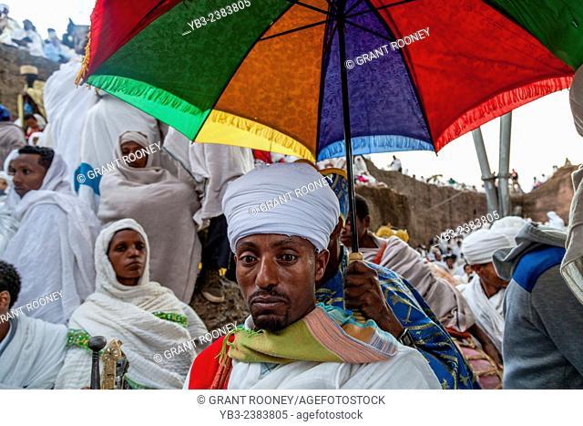 Christmas Day Celebrations, Beite Maryam Church, Lalibela, Ethiopia