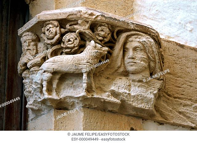 Relief detail, Maricel Palace. Sitges, Barcelona province. Catalonia, Spain