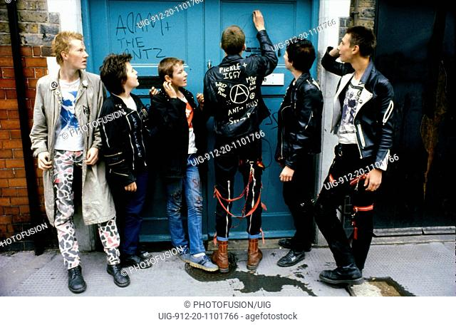 Group of young punk kids in London