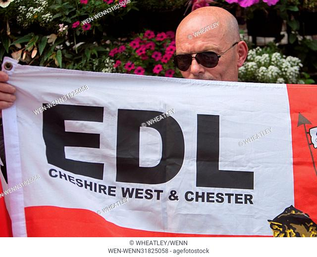 Far Right group EDL (English Defence League) hold march in Central London opposed by the UAF (unite Against Fascists, UK Featuring: Atmosphere