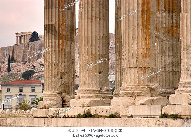 Temple of Olympian Zeus. Athens. Greece