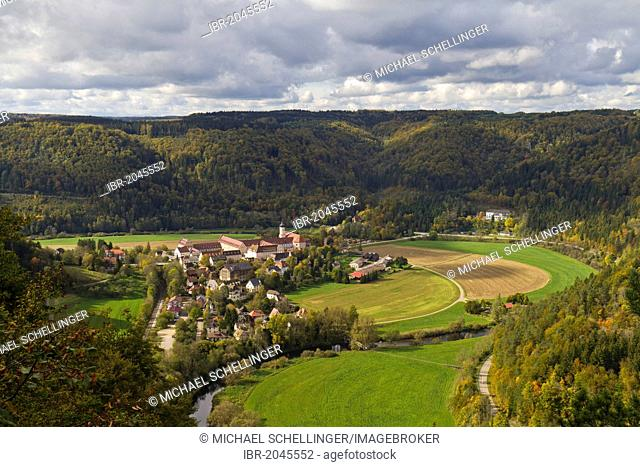 Kloster Beuron monastery, upper Danube valley, Landkreis Sigmaringen district, Baden-Wuerttemberg, Germany, Europe