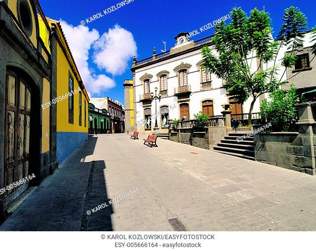 Arucas - city famous for its rum factory, Gran Canaria, Canary Islands, Spain