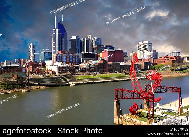 The Country music capitol of the World - the city of Nashville, Tennessee