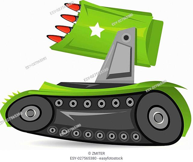 vector army tank. vector military green tank. kids background with cartoon army machine