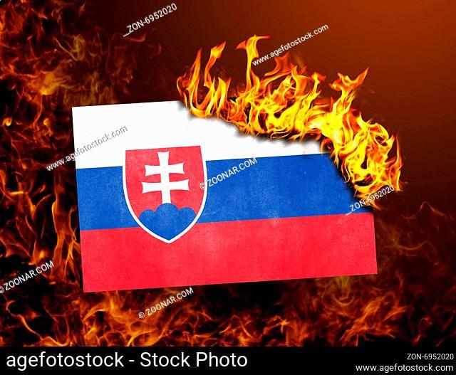 Flag burning - concept of war or crisis - Slovakia